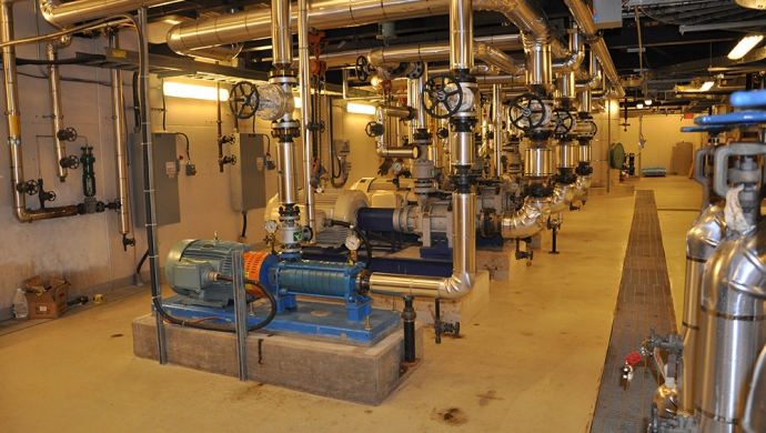 New 75 Horsepower Feedwater Pump Serving Main Plant